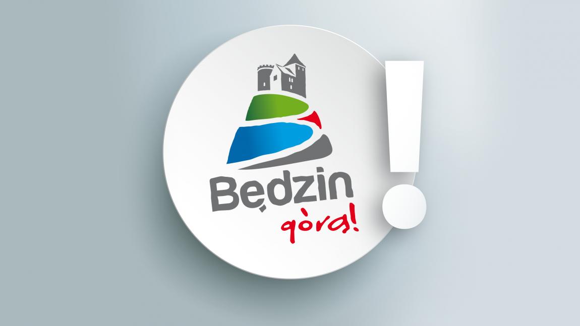 Logo Będzin Górą z wykrzyknikiem