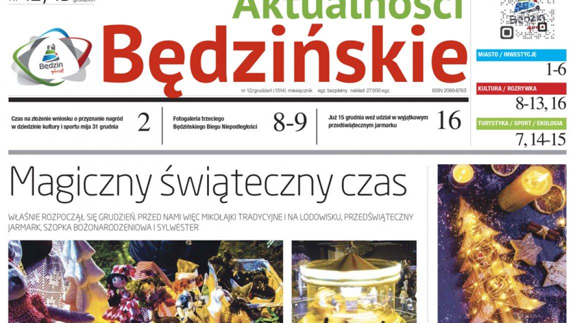 Ilustracja przedstawiająca tytułową stronę Aktualności Będzińskich