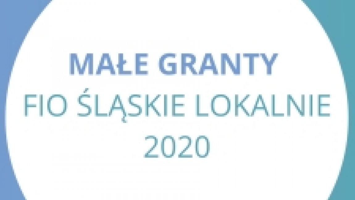 Ilustracja z napisem Małe Granty Fio Śląskie Lokalnie 2020