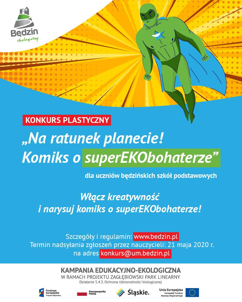 Plakat informujący o konkursie plastycznym