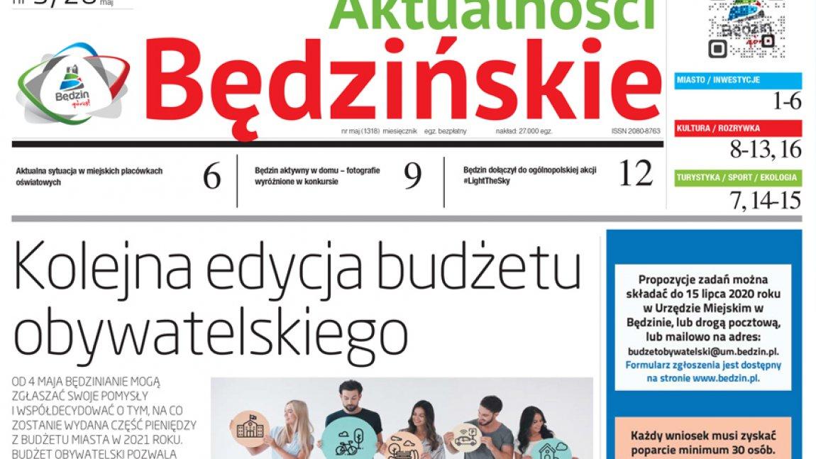 Ilustracja przedstawiająca pierwsza stronę Aktualności Będzińskich