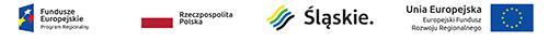 Logotypy: fundusze Europejskie. Progam Regionalny, Rzeczpospolita Polska, Śląskie, Uia Europejska. Europejski Fundusz Rozwoju Reginalnego