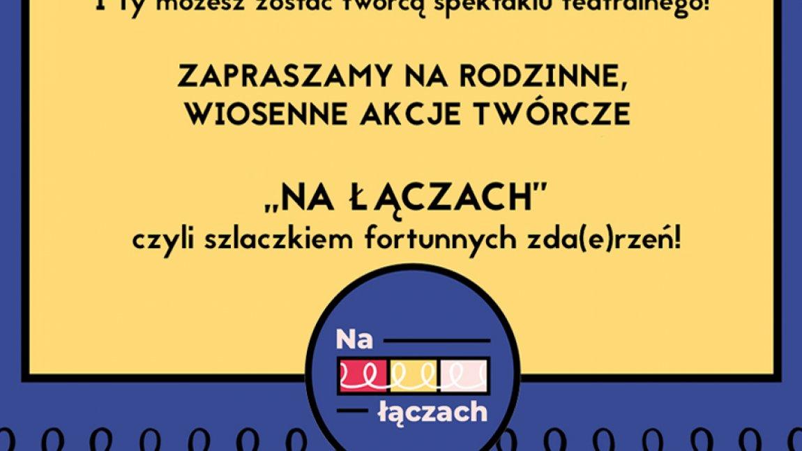 Ilustracja informująca o warsztatach w kolorystyce żółto-granatowej